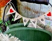 Classic Love Wedding Cake Topper Baker Banner in Lowercase Lettering