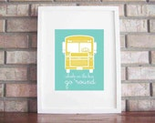 Printable Wheels On The Bus {5x7, 8x10 and 11x14} INSTANT DOWNLOAD