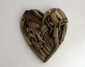 "driftwood heart  ""Valentine "" made from natural driftwood ...30x38 cm...""I love you""...perfect for your coastal home"