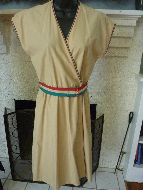 Vintage 70s Deadstock Sexy Belted Wrap Dress  S