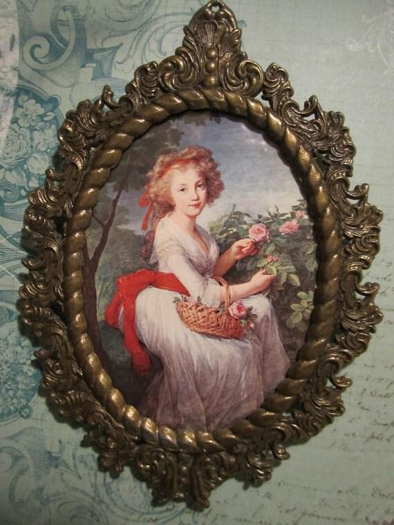 Vintage Lady Famed Print