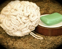 PATTERN: Cotton Shower Puff  Crochet  by Bean's Bag