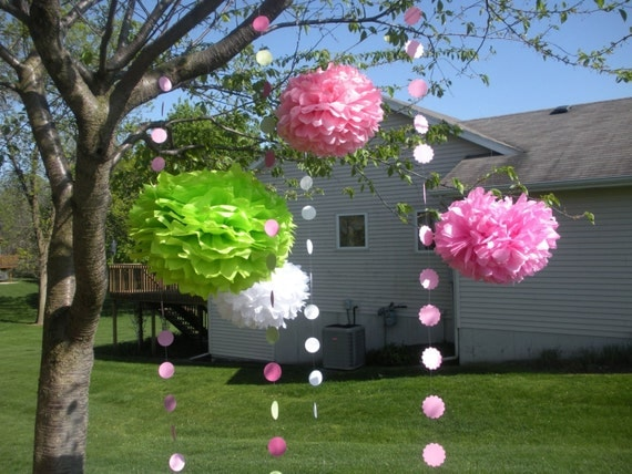FAST SHIPPING Extra Full 7 Large Tissue Pom Poms You Choose Your Colors