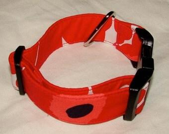 Small dog collar, Marimekko mini unikko fabric, Finland