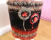 Circle Flowers Coffee Cozy