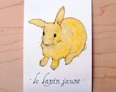 Le Lapin Jaune - Mini Archival Print