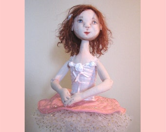 Jointed Art Doll PDF Sewing Pattern   Cassie the Little Ballerina DIY