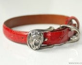 Atelier Yozu Sterling Silver and Genuine Leather Dog Collar Yorkie