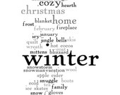 Wall Art 8x10 Print - Words About Winter - Version 3