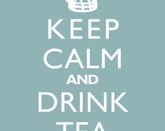 Art Print Wall Decor - Keep Calm And Drink Tea