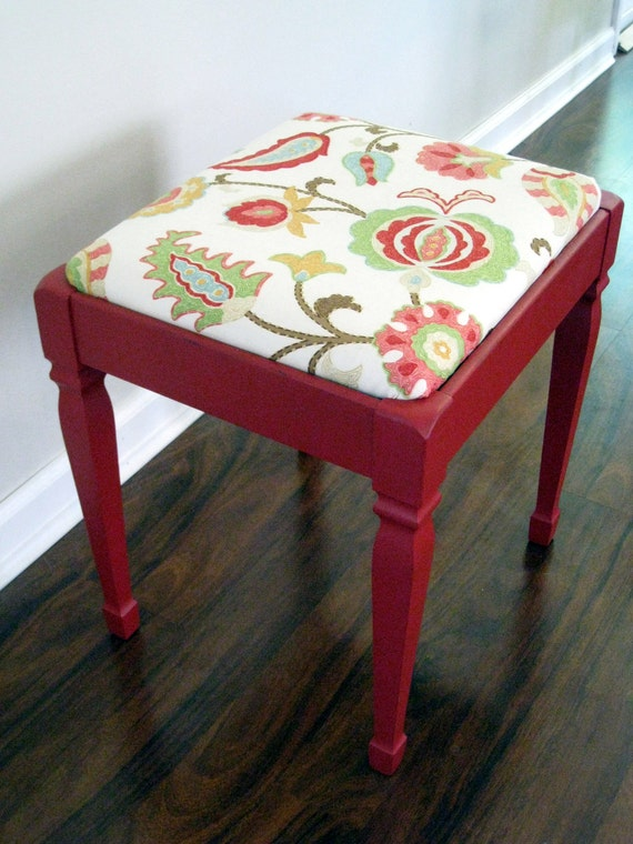 Furniture Red Bench With Hidden Compartment On Sale