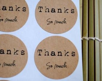 24 Thanks so much Kraft round labels/seals