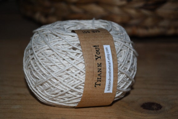 White (Natural) Twine- 100 yards (300 feet)-Perfect for HAND-DYEING- DIY