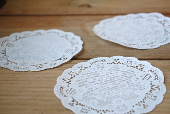 """50 French Paper Doilies (5"""")"""