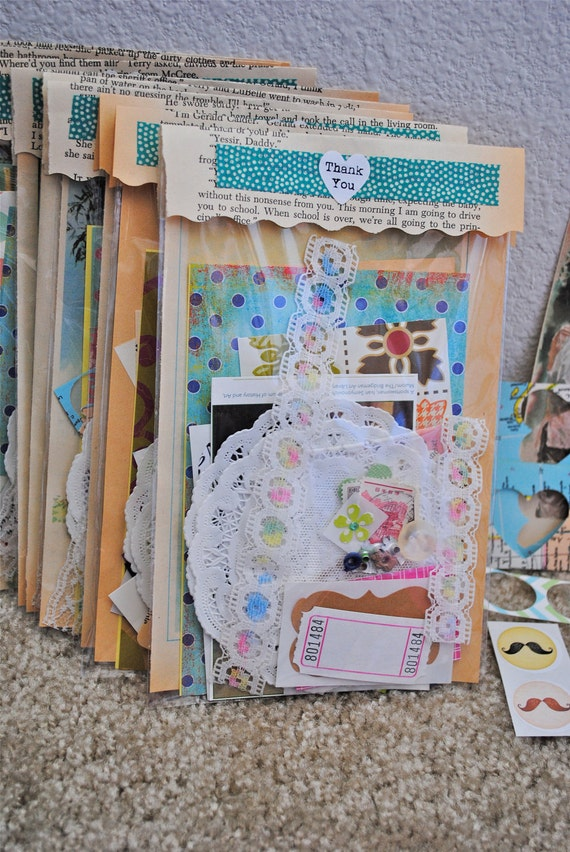 Scrap Pack - Ephemera - for journaling, scrapbooking, smashbooking, collages - paper scrap - destash