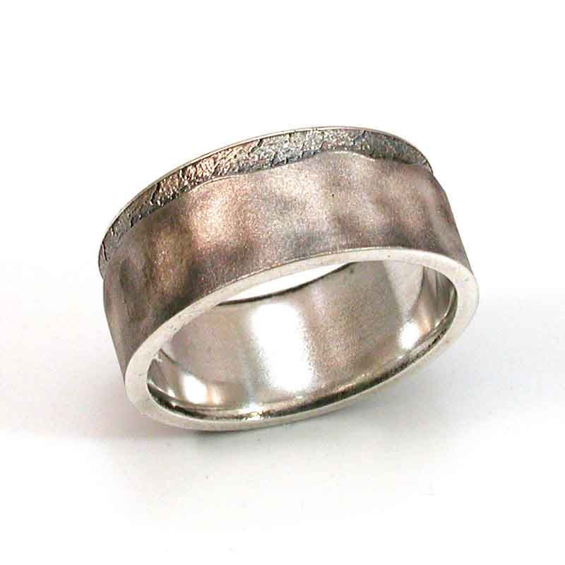 handmade mens rings mens ring sterling silver abstract handmade 6999