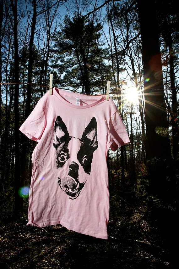 Women Boston Terrier Smile Pink Shirt Available in S-M-L-XL-XXL FREE shipping