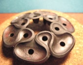 """Jens Quistgaard designed  """"clover leaf"""" cast iron candle holder by Dansk"""