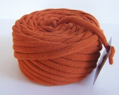 Rust 25 Yrds Recycled T-Shirt Yarn, T Shirt Yarn, Bulky REDUCED