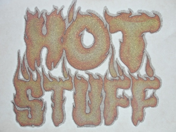 Vintage Hot Stuff Iron-On T-Shirt Transfer
