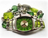 Interchangeable Chunky Beaded Watch - Lime Please