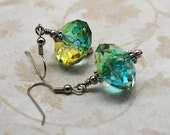 Blue Green Ice Earrings