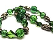 Emerald Green Chunky Necklace