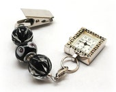 Black Flower Nurse Fob Watch