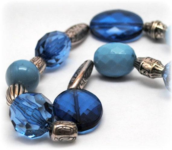 Chunky Necklace - Blue Winter Sparkle