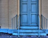 Blue Doorway at Beaufort Print. ID0688