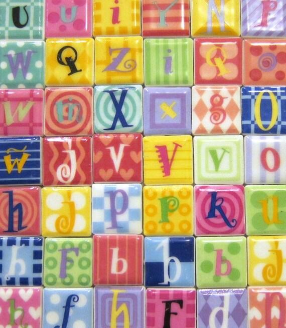 1 Stephen Joseph Tiles 46 Ceramic Magnet Letters