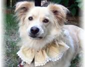 Wedding RUFFLED DOG COLLAR ruff bandana scrunchie scarf for medium size dogs