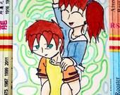 Original Manga ACEO: 'Venetia and Ercole - Water Siblings'