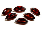 8x4mm Mozambique Garnet 6 Pieces Faceted Red Garnet Faceted Gemstone Marquise AAA Pyrope Semi-Precious Loose Stone Gem 1515S - 6 Pieces