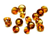 2.5mm Madeira Citrine 6 Pieces Faceted Gemstone Round Cut Stone 2.5 mm 2mm 3mm Natural Gem - 6 Pieces
