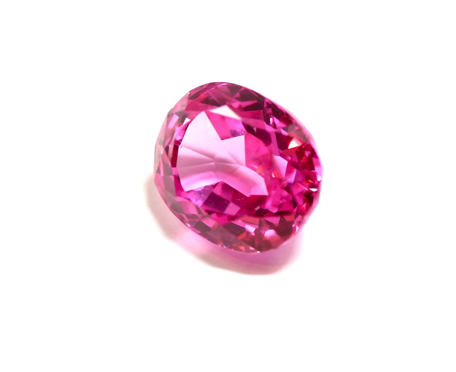 pink mystic topaz gemstone 14 x 12mm oval cut