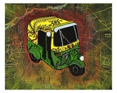 New Delhi Rickshaw Ride - India Inspired Exotic Art Print - Limited Edition - Will surely make your place stand out