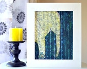 Elephant in the Secret Forest - India Inspired Exotic Art Print - Limited Edition - Will surely make your place stand out