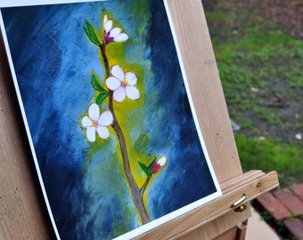Flower Painting - Cherry Blossom - Hope - Exotic Art Print - Limited Edition - Will surely make your place stand out