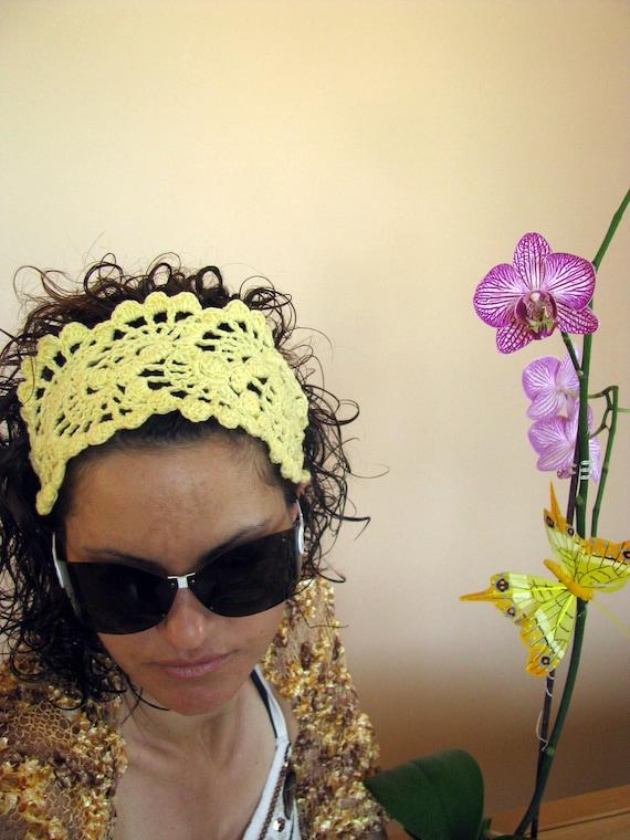 Crochet Headband-  Summer Hair Fashion Accessories - crochet hairband/bandana/headband/hair wrap