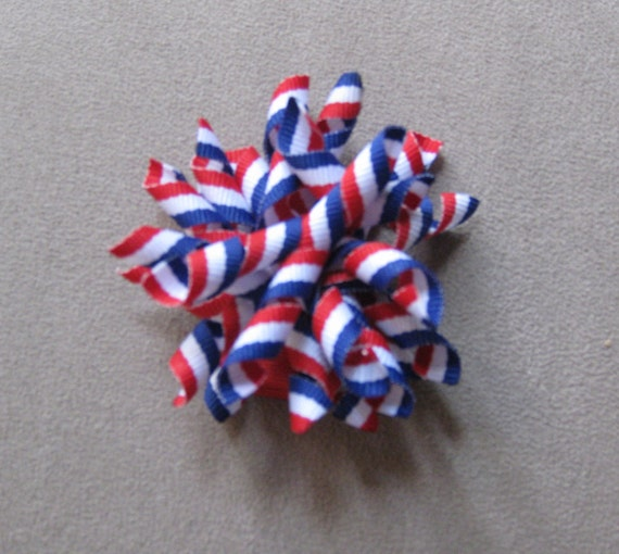 Red, White, and Blue Firework Korker hair bow
