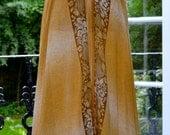 Vintage silk sari maxi ruffle halter dress