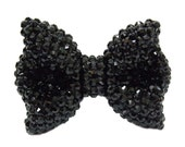 Bling Black Crystal Rhinestone Bow flatback Jewelry accessories Handmade supplies for Mobile Phone