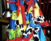Custom Patchwork Dresses for Disney, Toy Story Style