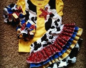 Toy Story Jessie themed Cowprint Ruffle Butt Bloomers