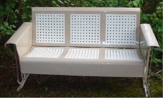 Restored Vintage Metal Porch Patio Glider