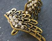 Steampunk Pirate Victorian goth  earrings pendant charm MAGICAL FAIRY earrings