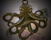 Steampunk Victorian pendant charm pirate DR. OCTOPUS Necklace