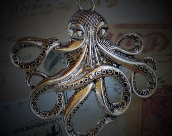Steampunk DR. OCTOPUS Necklace Victorian pendant charm pirate