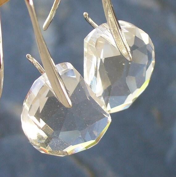 Steampunk Pirate Victorian goth  earrings pendant charm MAGICAL crystal earrings wedding bridal bridesmaid